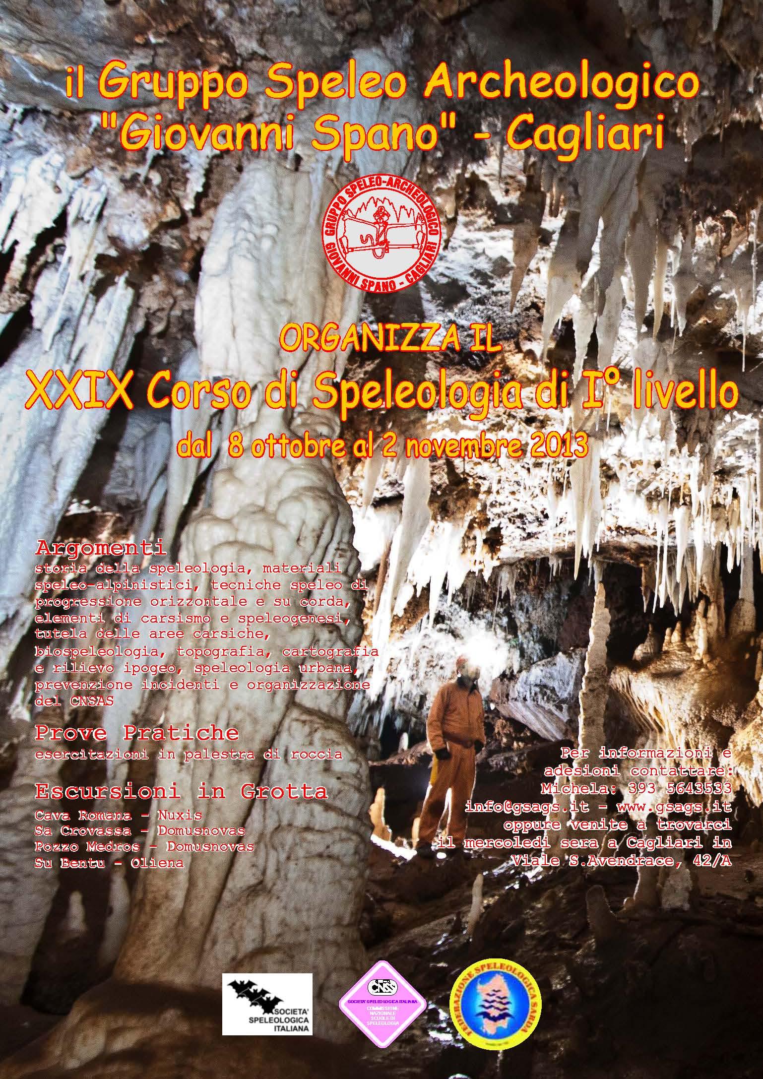 XXIX Corso di Speleologia di I Livello 2013