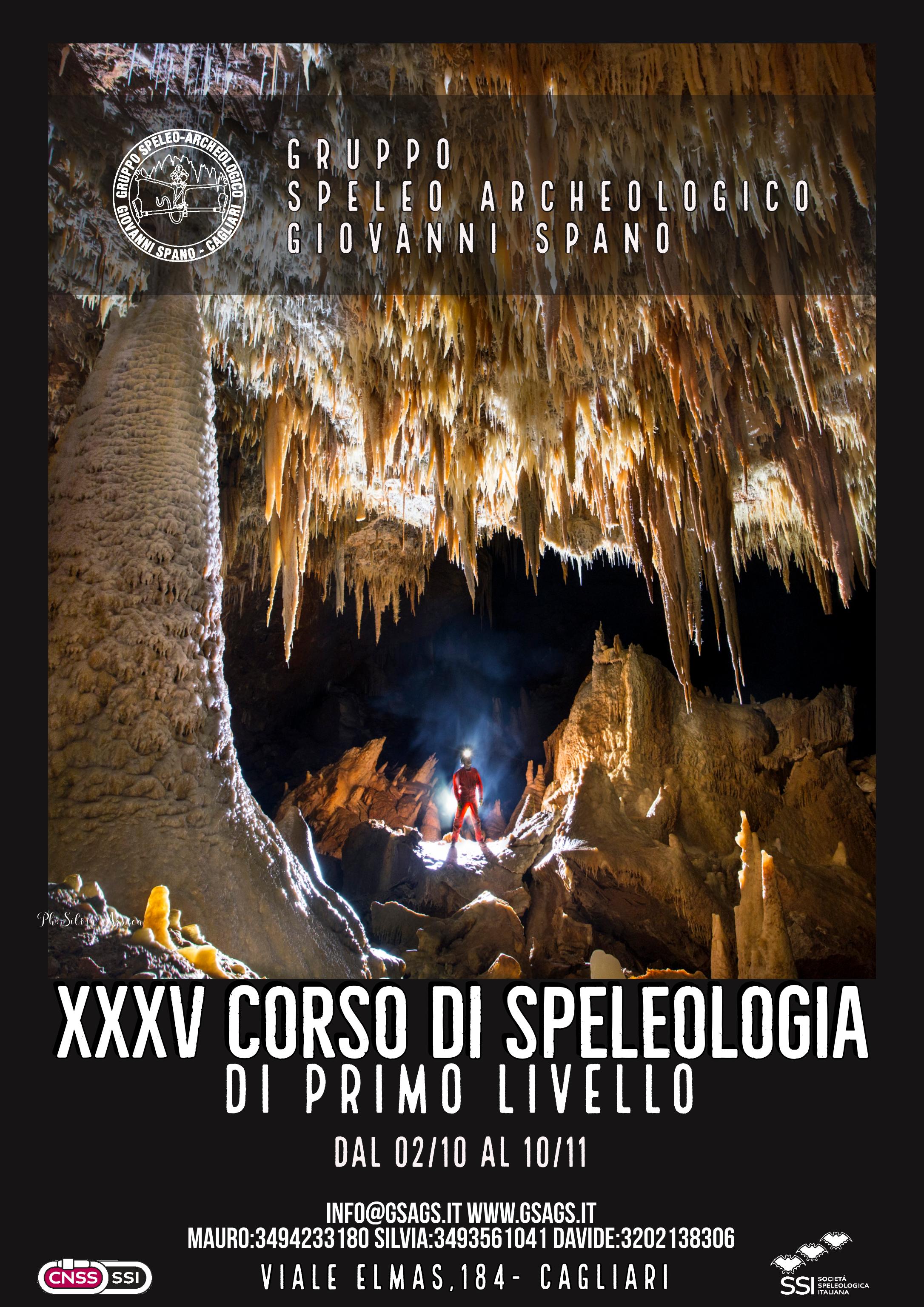 XXXV Corso di Speleologia di primo livello 2019